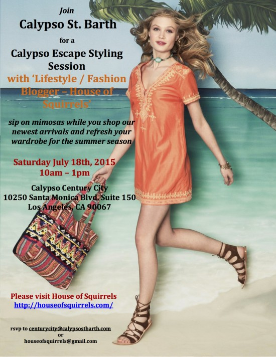 JULY 18th Calypso Escape Styling Session 2015 Evite
